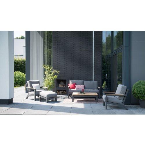 4 Seasons Outdoor Voetenbank - Capitol - Grijs - Aluminium - 4 Seasons Outdoor
