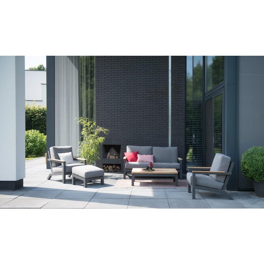 Voetenbank - Capitol - Grijs - Aluminium - 4 Seasons Outdoor-4