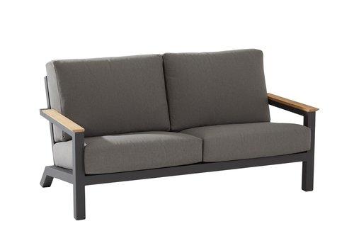 Lounge Tuinbank - Capitol - Grijs - Aluminium - 4 Seasons Outdoor