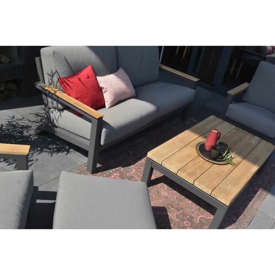 Lounge Tuinbank - Capitol - Grijs - Aluminium - 4 Seasons Outdoor-3