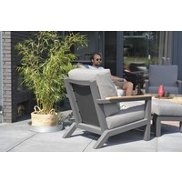 thumb-Lounge Tuinbank - Capitol - Grijs - Aluminium - 4 Seasons Outdoor-7
