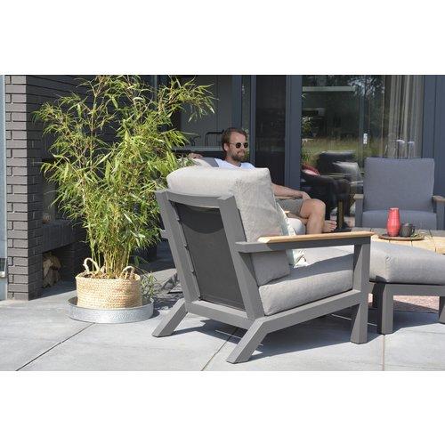 4 Seasons Outdoor Lounge Tuinbank - Capitol - Grijs - Aluminium - 4 Seasons Outdoor