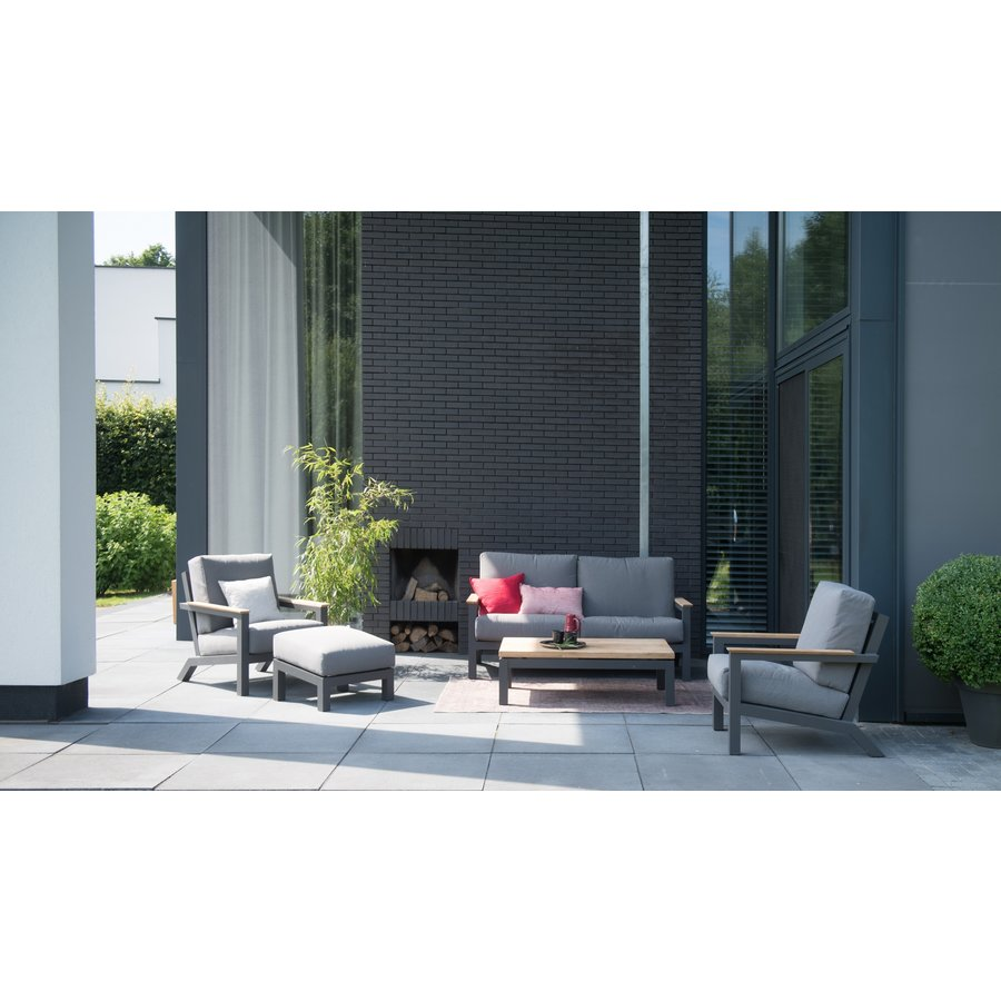 Lounge Tuinbank - Capitol - Grijs - Aluminium - 4 Seasons Outdoor-5