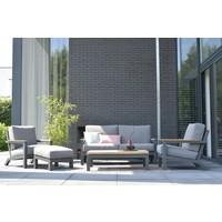 thumb-Lounge Tuinbank - Capitol - Grijs - Aluminium - 4 Seasons Outdoor-4