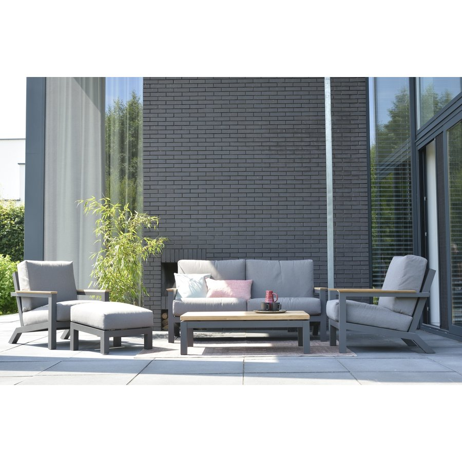 Lounge Tuinbank - Capitol - Grijs - Aluminium - 4 Seasons Outdoor-4