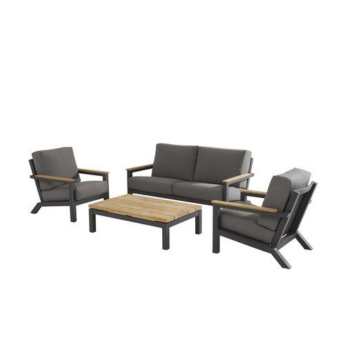 4 Seasons Outdoor Loungeset  - Capitol - Grijs - Aluminium - 4 Seasons Outdoor