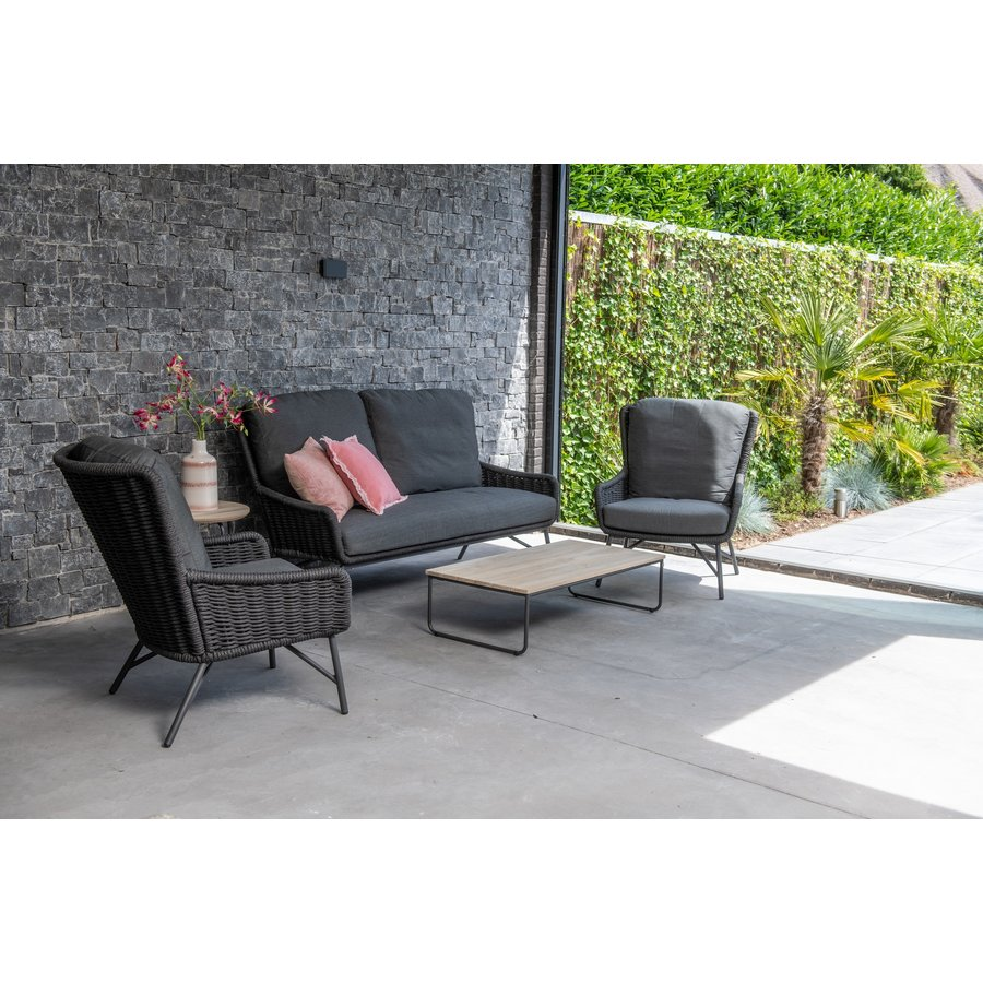 Lounge Tuinstoel - Wing - Antraciet - Rope/RVS - 4 Seasons Outdoor-7