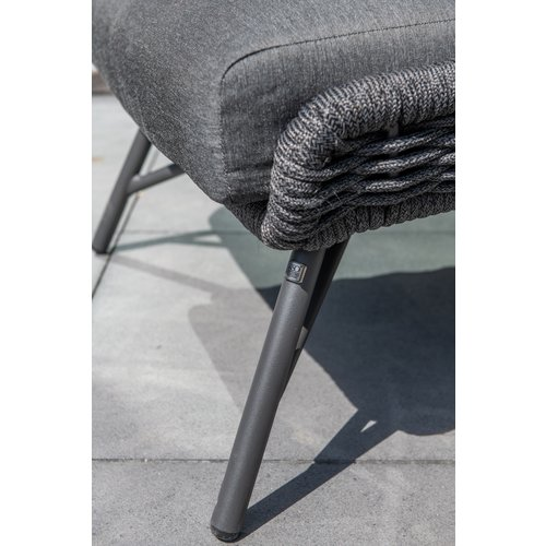 4 Seasons Outdoor Lounge Tuinstoel - Wing - Antraciet - Rope/RVS - 4 Seasons Outdoor
