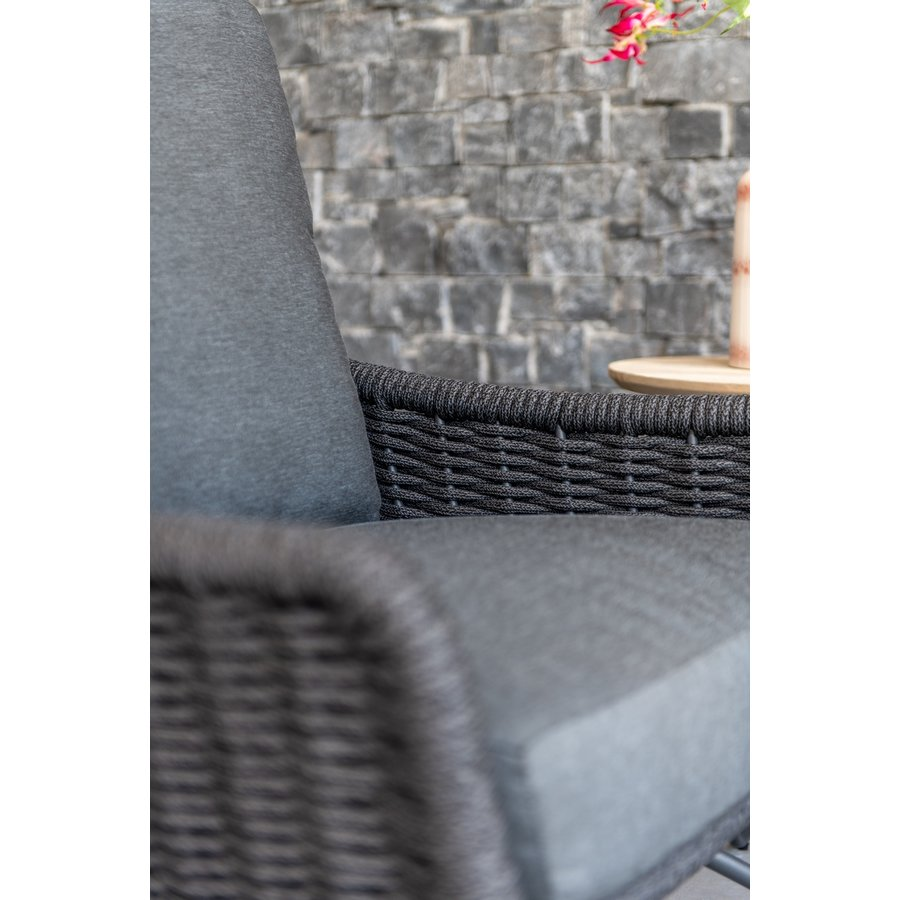 Lounge Tuinstoel - Wing - Antraciet - Rope/RVS - 4 Seasons Outdoor-9
