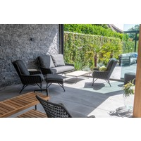 thumb-Lounge Tuinbank - Wing - Antraciet - Rope - 4 Seasons Outdoor-4