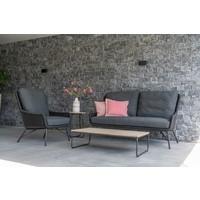 thumb-Lounge Tuinbank - Wing - Antraciet - Rope - 4 Seasons Outdoor-5