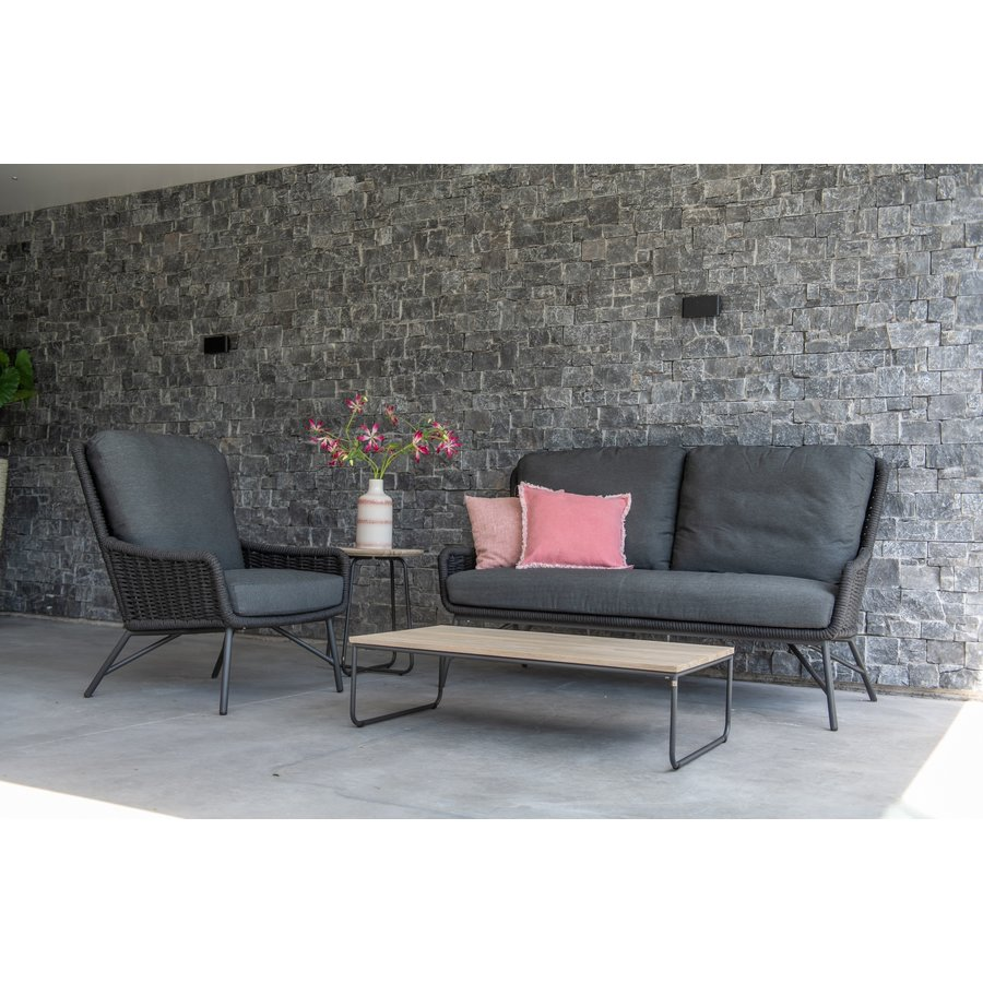 Lounge Tuinbank - Wing - Antraciet - Rope - 4 Seasons Outdoor-5