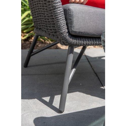 4 Seasons Outdoor Lounge Tuinbank - Wing - Antraciet - Rope - 4 Seasons Outdoor