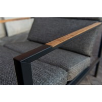 thumb-Lounge Tuinstoel - Trentino - Grijs - RVS/Teak - 4 Seasons Outdoor-8