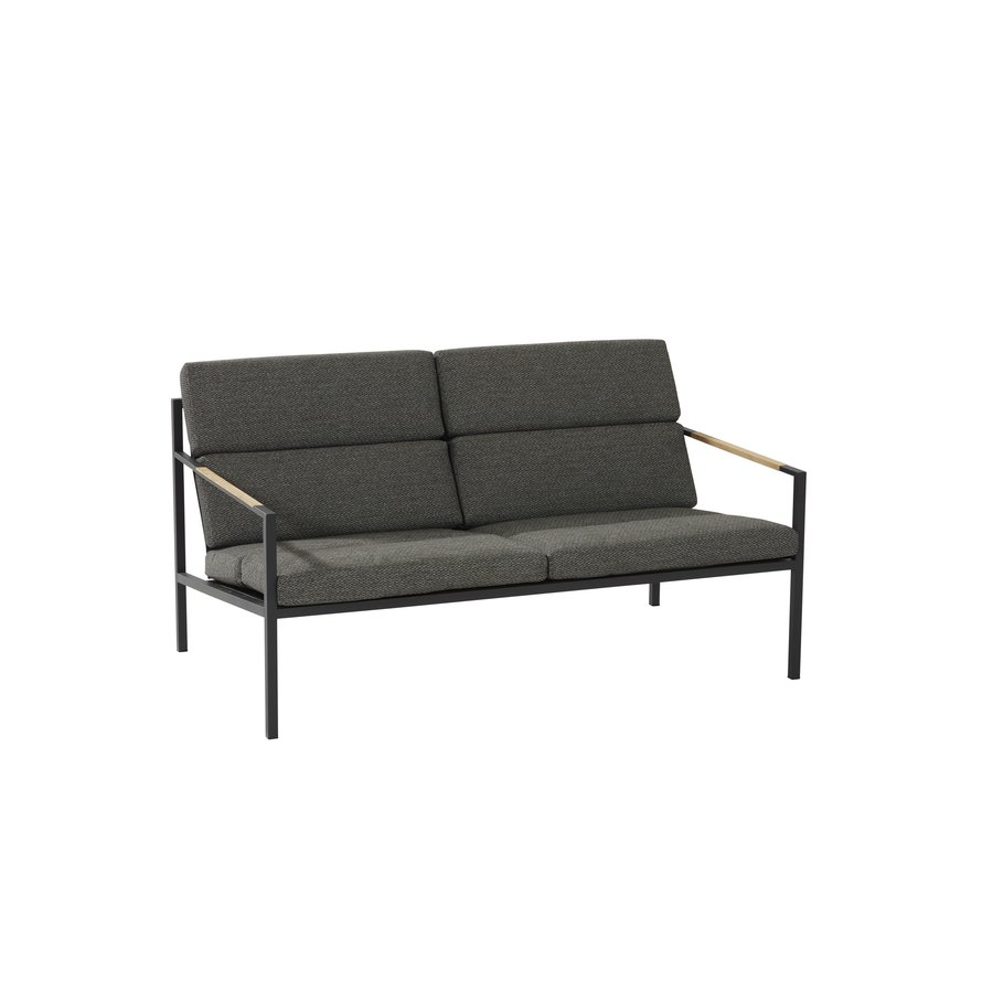 Stoel-Bank Loungeset  - Trentino - Grijs - RVS/Teak - 4 Seasons Outdoor-3