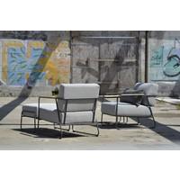 thumb-Lounge Tuinstoel - Coast - Lichtgrijs - RVS/Teak - 4 Seasons Outdoor-6