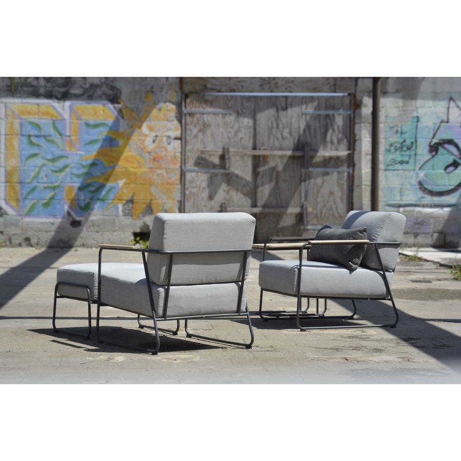 Lounge Tuinstoel - Coast - Lichtgrijs - RVS/Teak - 4 Seasons Outdoor-6