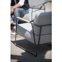 thumb-Lounge Tuinbank - Coast - Lichtgrijs - RVS/Teak - 4 Seasons Outdoor-6