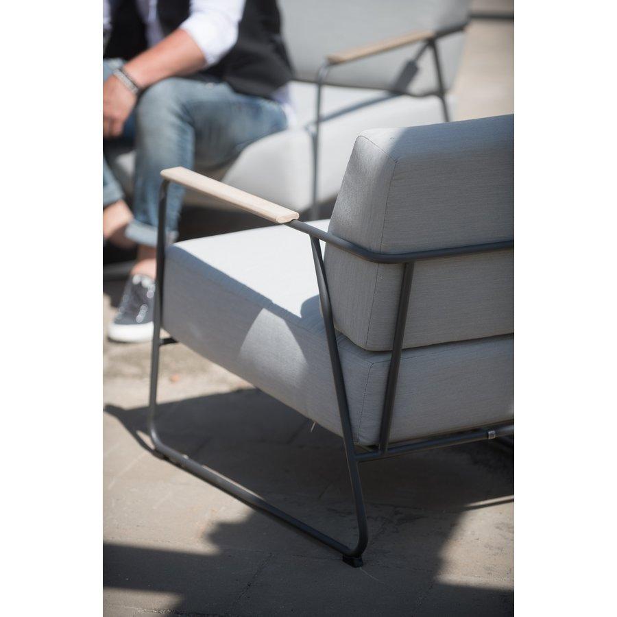 Lounge Tuinbank - Coast - Lichtgrijs - RVS/Teak - 4 Seasons Outdoor-6