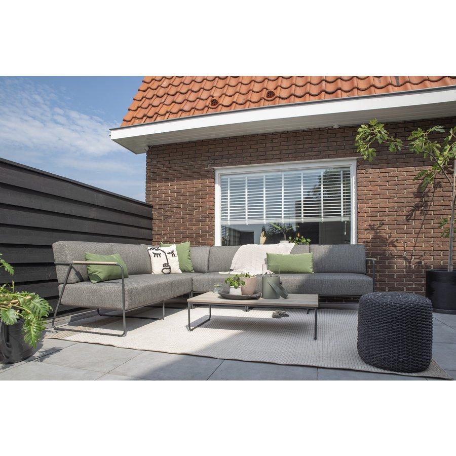 Hoek Loungeset  - Coast - 6 Zits - Antraciet - RVS/Teak - 4 Seasons Outdoor-4
