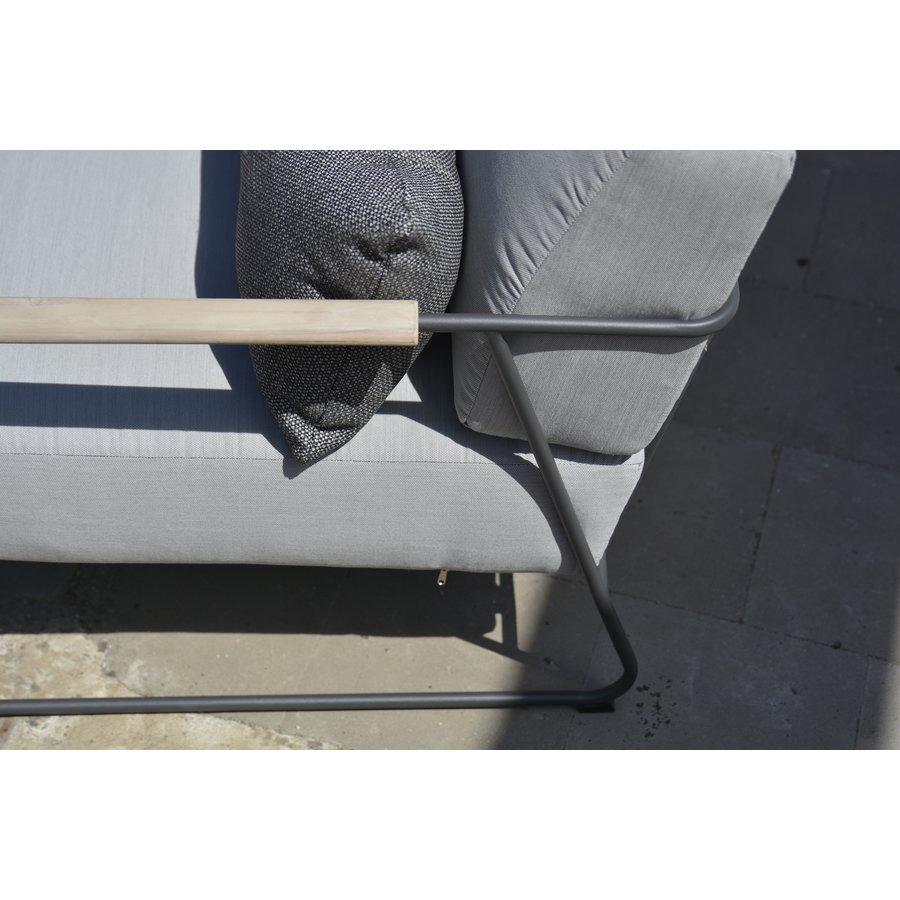 Stoel-Bank Loungeset  - Coast - Lichtgrijs - RVS/Teak - 4 Seasons Outdoor-4