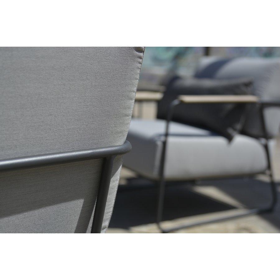 Stoel-Bank Loungeset  - Coast - Lichtgrijs - RVS/Teak - 4 Seasons Outdoor-5