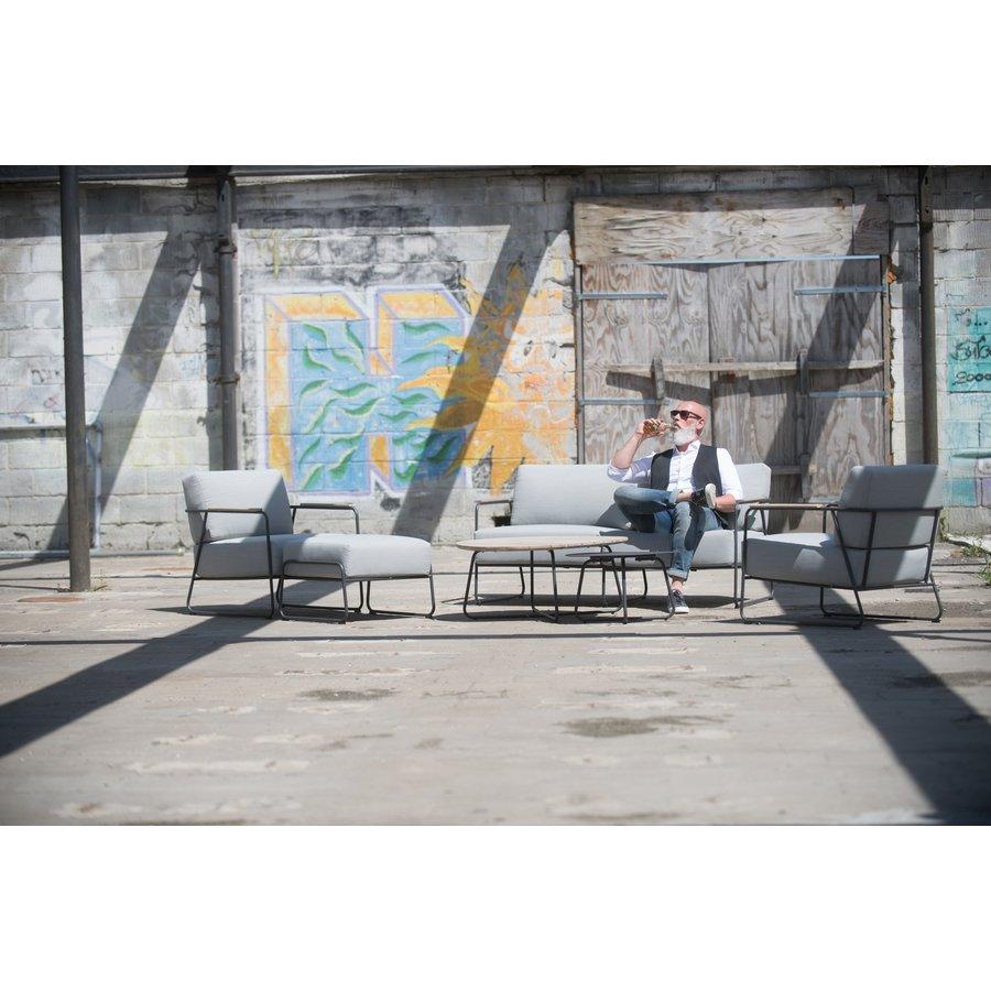 Stoel-Bank Loungeset  - Coast - Lichtgrijs - RVS/Teak - 4 Seasons Outdoor-7