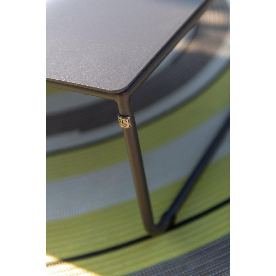 Bijzettafel Tuin - Dali - Antraciet - Aluminium / RVS - 4 Seasons Outdoor-4