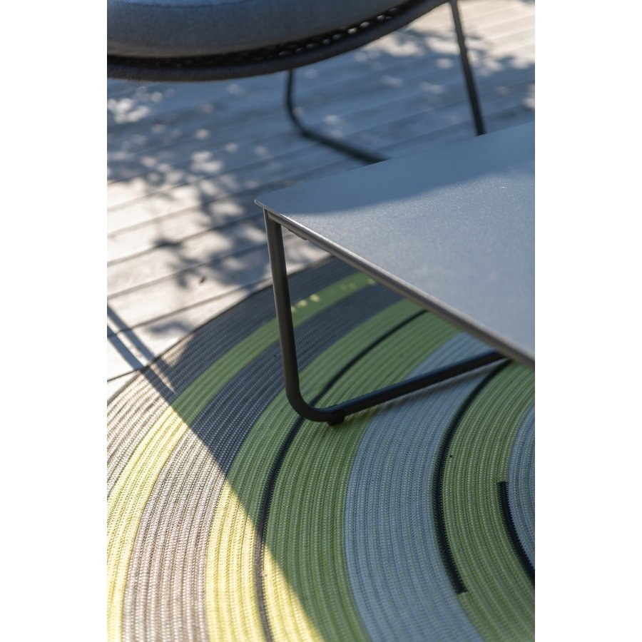 Bijzettafel Tuin - Dali - Antraciet - Aluminium / RVS - 4 Seasons Outdoor-3