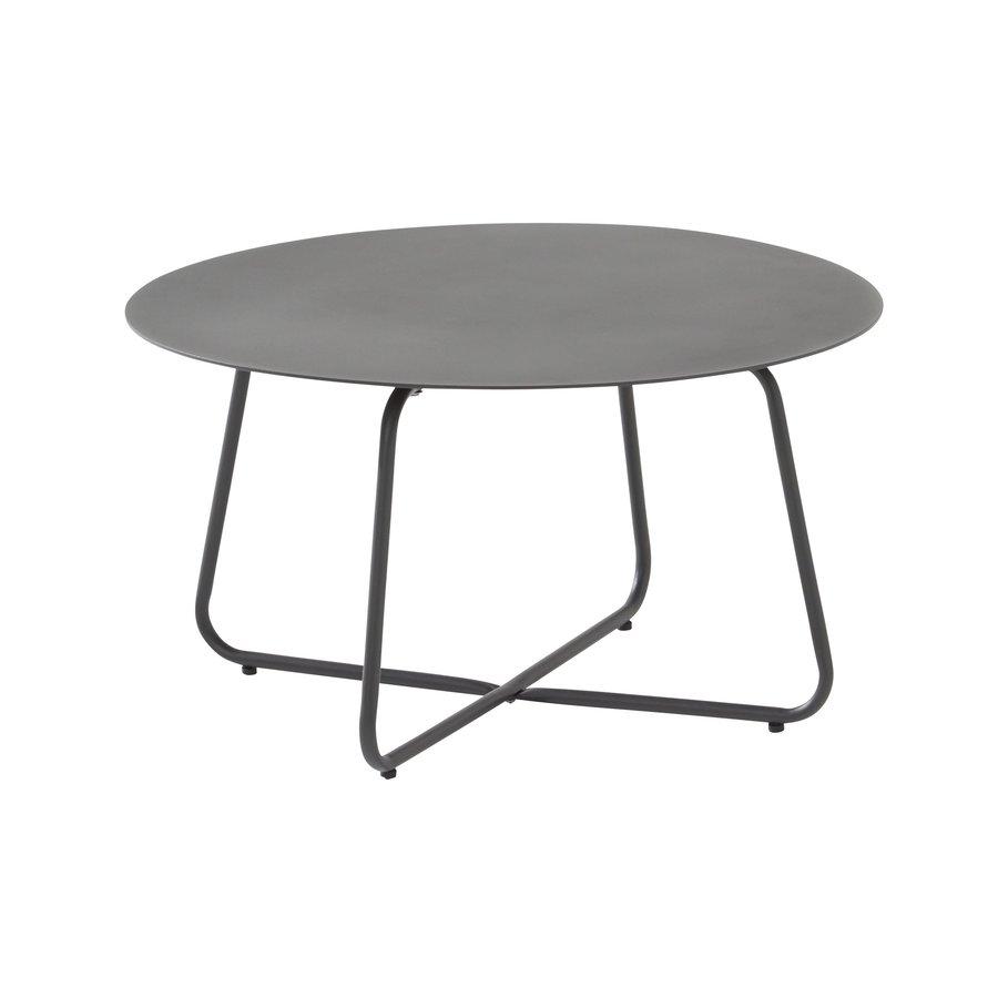 Bijzettafel Tuin - Dali - Ø 73 cm - Antraciet - Aluminium / RVS - 4 Seasons Outdoor-1