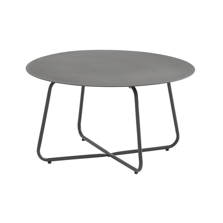 Bijzettafel Tuin - Dali - Ø 73 cm - Antraciet - Aluminium / RVS - 4 Seasons Outdoor-2