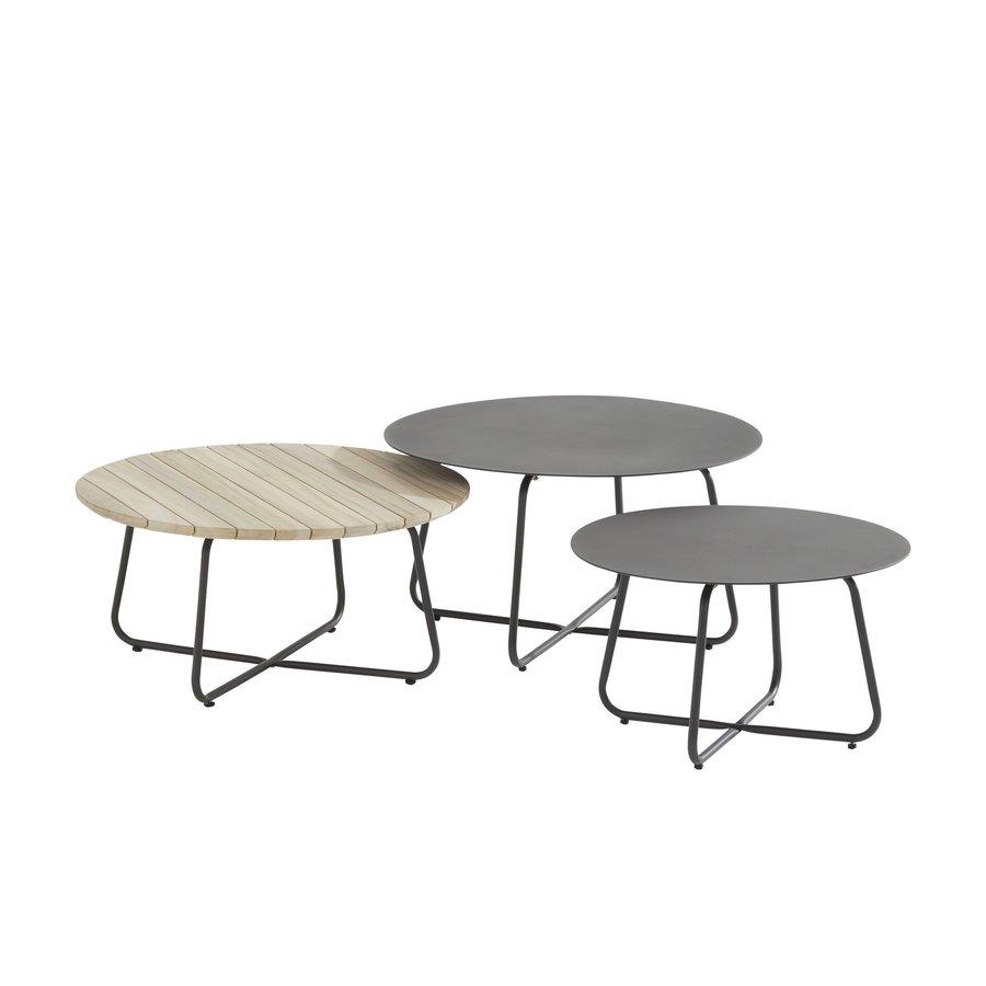 Bijzettafel Tuin - Dali - Ø 58,5 cm - Antraciet - Aluminium / RVS - 4 Seasons Outdoor-4