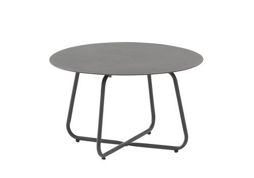Bijzettafel Tuin - Dali - Ø 58,5 cm - Antraciet - Aluminium / RVS - 4 Seasons Outdoor