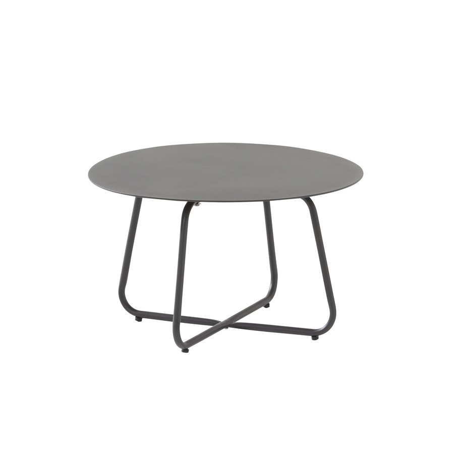 Bijzettafel Tuin - Dali - Ø 58,5 cm - Antraciet - Aluminium / RVS - 4 Seasons Outdoor-1