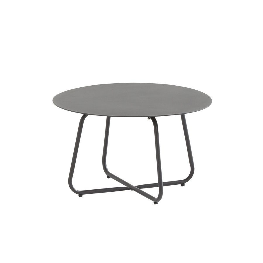 Bijzettafel Tuin - Dali - Ø 58,5 cm - Antraciet - Aluminium / RVS - 4 Seasons Outdoor-2
