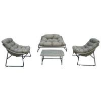 thumb-Stoel-Bank Loungeset - Piemont - Taupe - Wicker - Garden Interiors-1