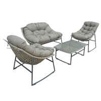 thumb-Stoel-Bank Loungeset - Piemont - Taupe - Wicker - Garden Interiors-2