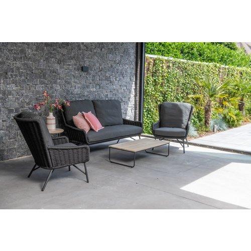 4 Seasons Outdoor Stoel-Bank Loungeset  - Wing - Antraciet - Rope - 4 Seasons Outdoor