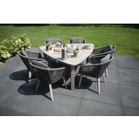 thumb-Dining Tuinstoel - Santander - Grijs - Rope - 4 Seasons Outdoor-10