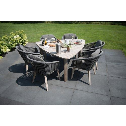 4 Seasons Outdoor Dining Tuinstoel - Santander - Grijs - Rope - 4 Seasons Outdoor