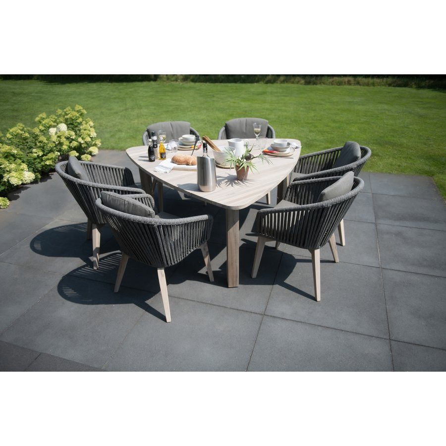 Dining Tuinstoel - Santander - Grijs - Rope - 4 Seasons Outdoor-10