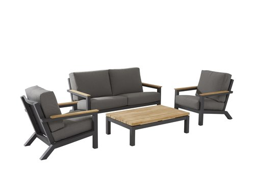 Loungeset  - Capitol - Grijs - Aluminium - 4 Seasons Outdoor