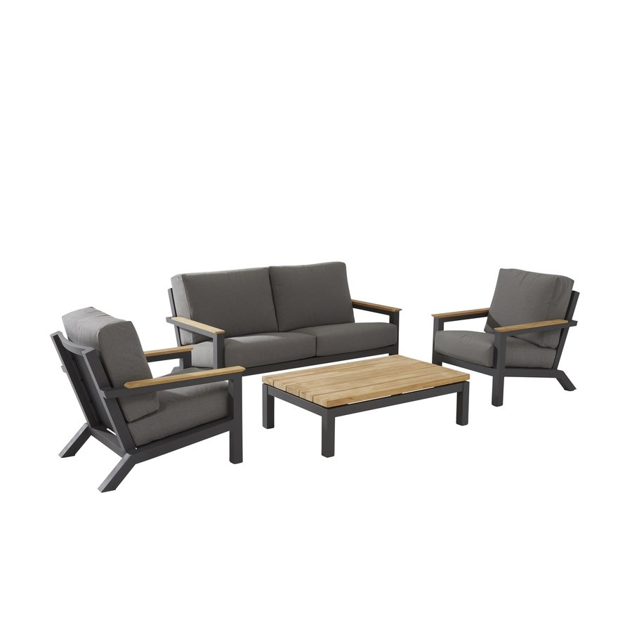 Loungeset  - Capitol - Grijs - Aluminium - 4 Seasons Outdoor-1