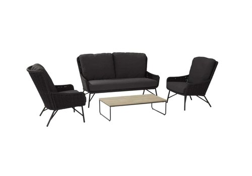 Stoel-Bank Loungeset  - Wing - Antraciet - Rope - 4 Seasons Outdoor