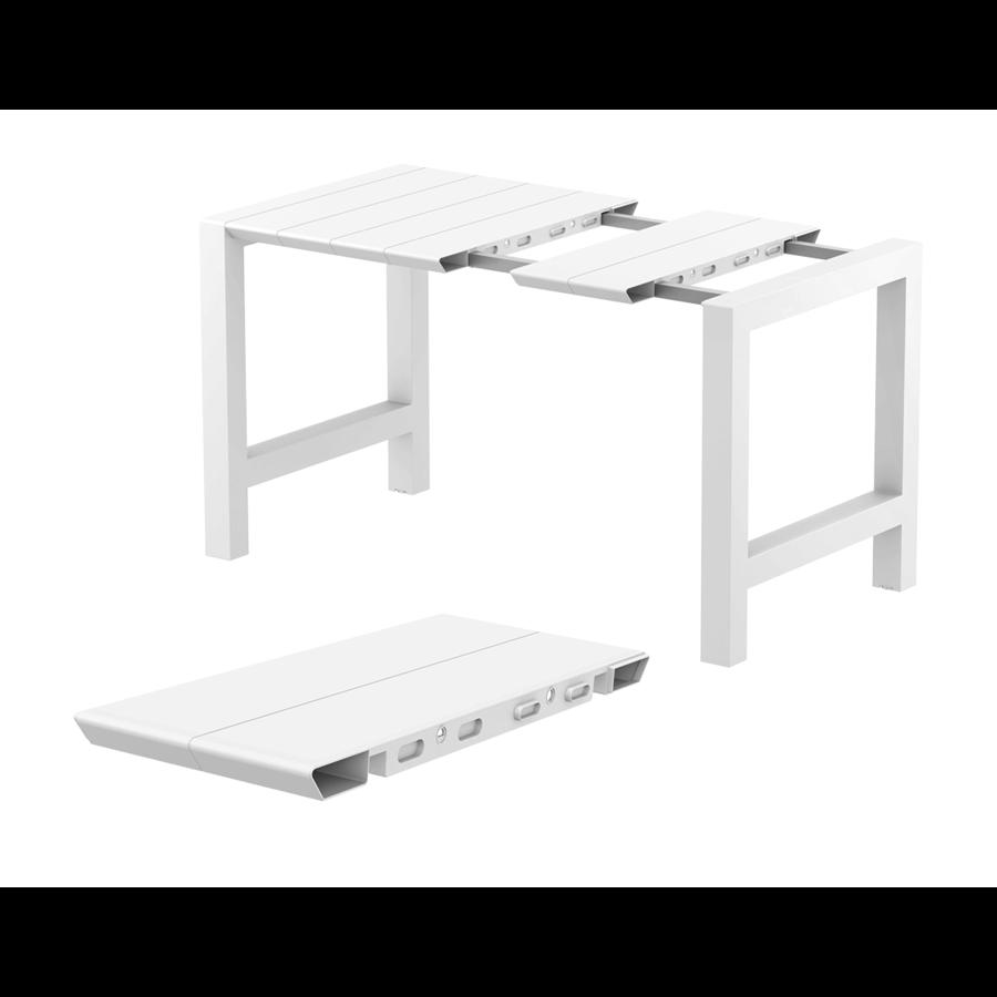 Bartafel - Vegas - Wit - Uitschuifbaar 100/140 cm - Siesta-3