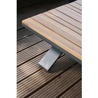 thumb-Hoek Loungeset - Alvor - Acacia/Aluminium - Antraciet - Garden Interiors-5