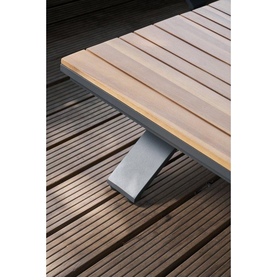 Hoek Loungeset - Alvor - Acacia/Aluminium - Antraciet - Garden Interiors-5