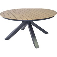 thumb-Tuintafel - Arezzo - Aluminium/Polywood - 160x90 cm - Lesli Living-4