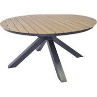 thumb-Tuintafel - Arezzo - Aluminium/Polywood - 90x90 cm - Lesli Living-4