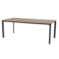 thumb-Tuintafel - Arezzo - Aluminium/Polywood - 200x90 cm - Lesli Living-1
